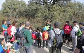 Un grupo de participantes siguiendo la explicación de la guía.