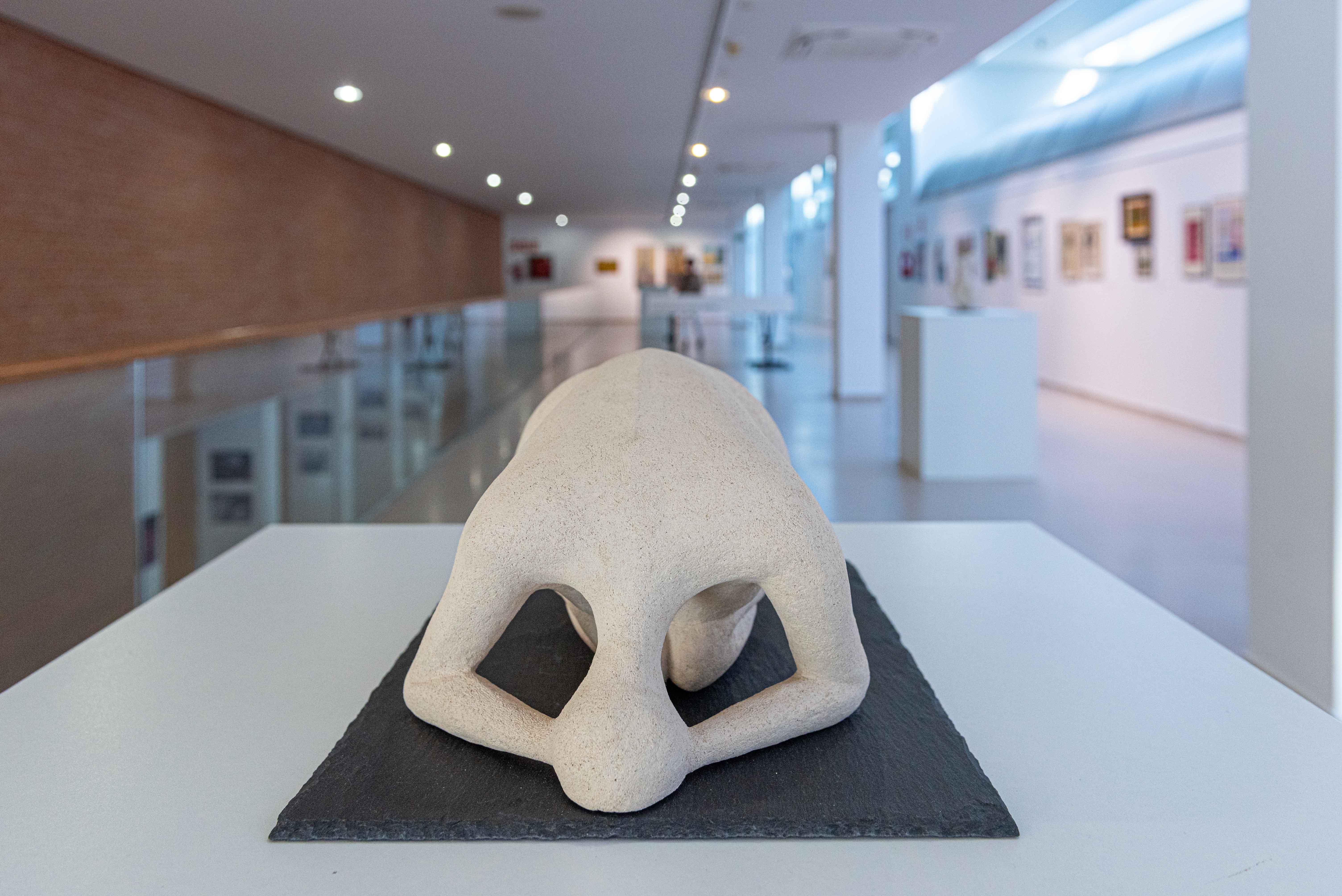 Detalle de una de las obras de la exposición del Grupo Votilesco