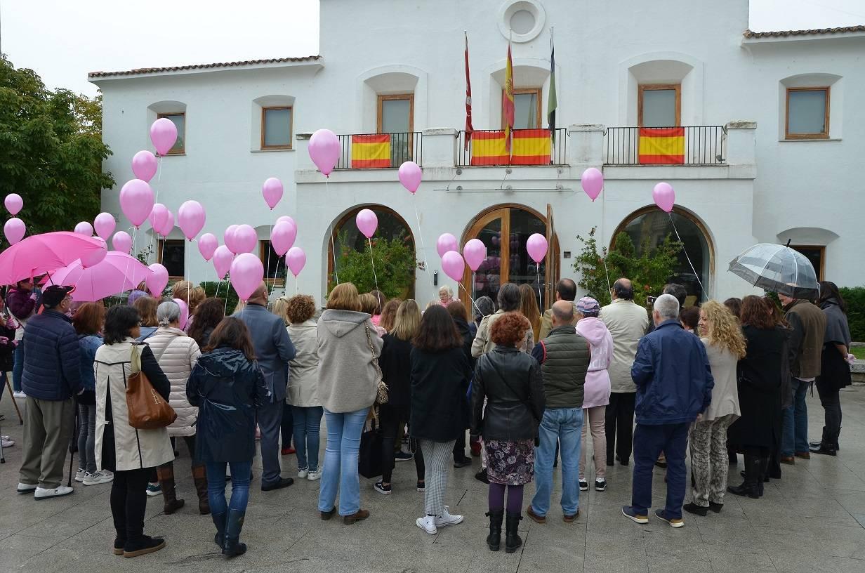 Imagen del acto en la plaza de España