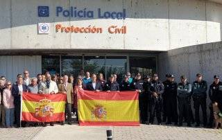 Concentración de apoyo a los policías destinados en Cataluña