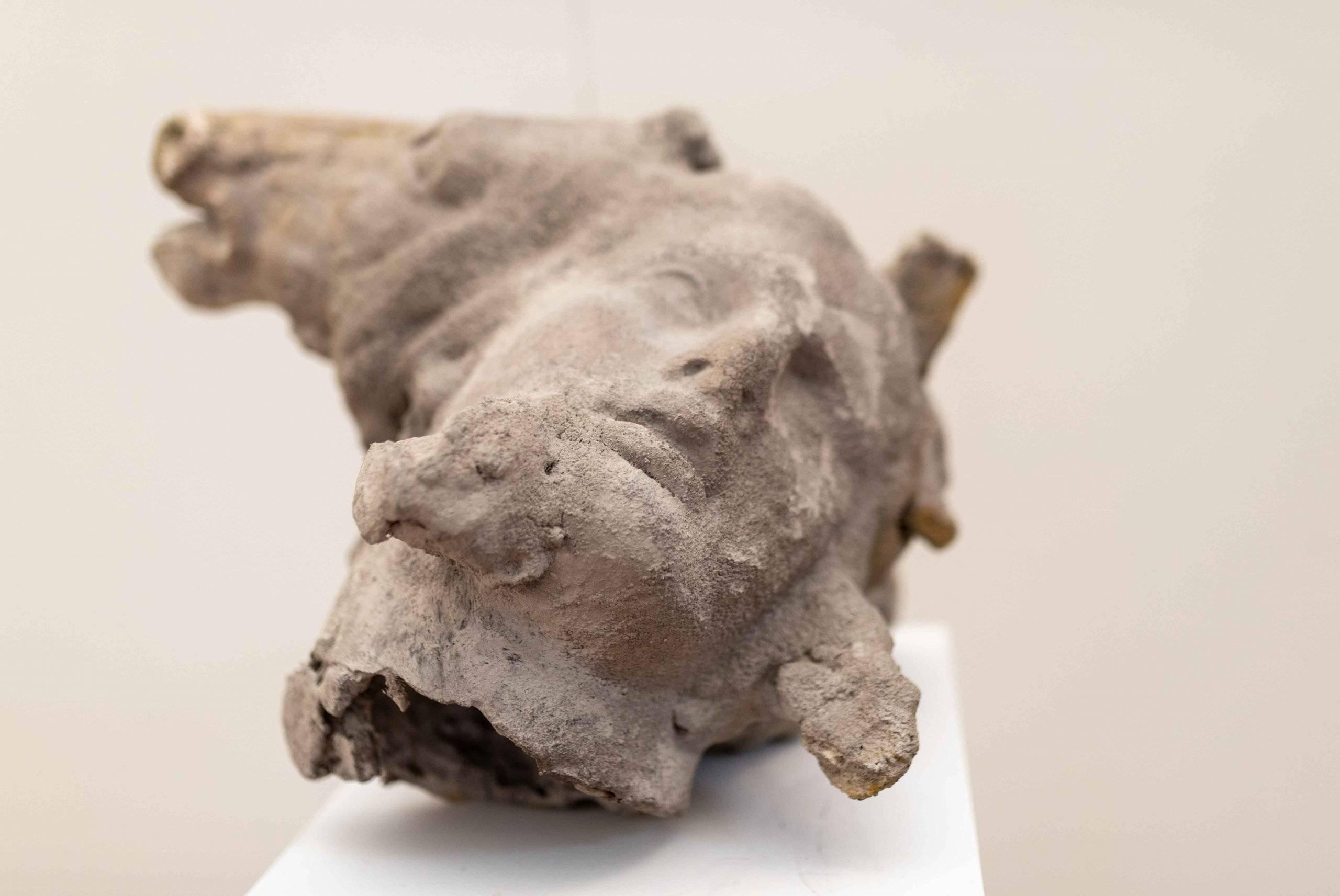 Escultura de una cabeza