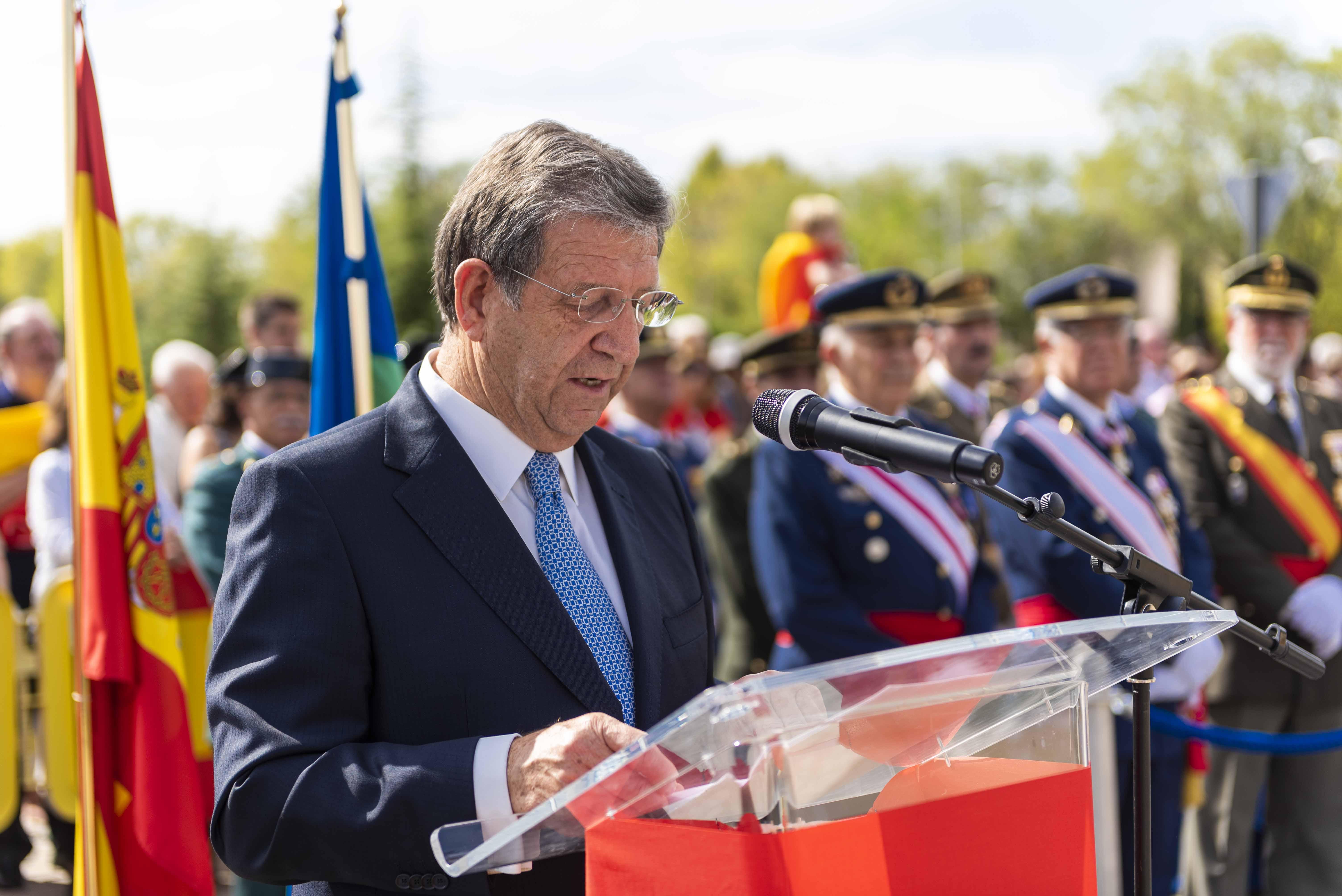 El alcalde, Luis Partida, durante su intervención