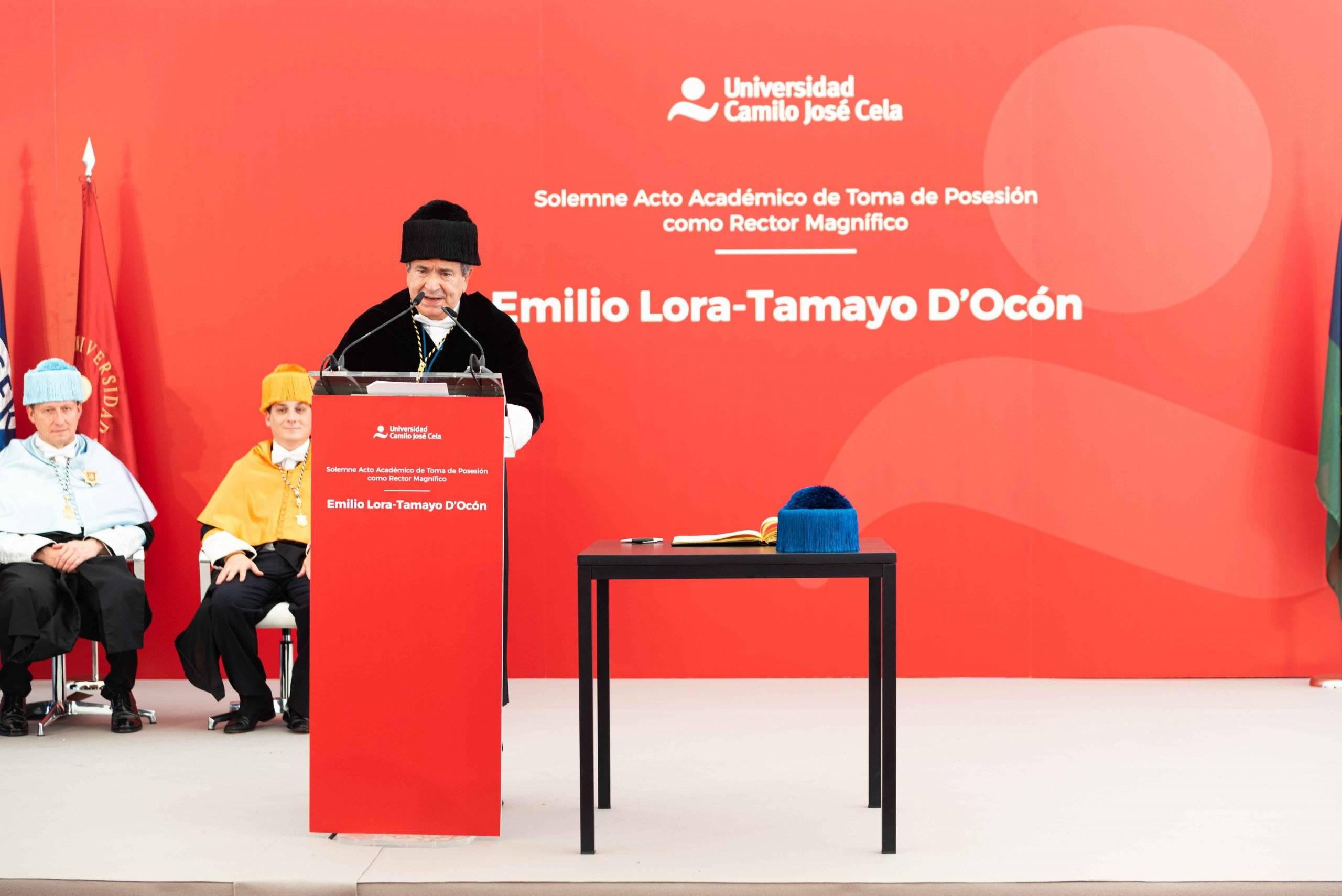Discurso de Emilio Lora-Tamayo, rector de la UCJC