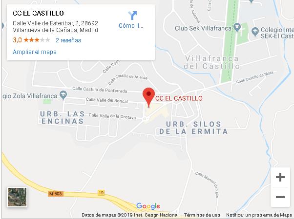 Plano ubicación C.C. El Castillo