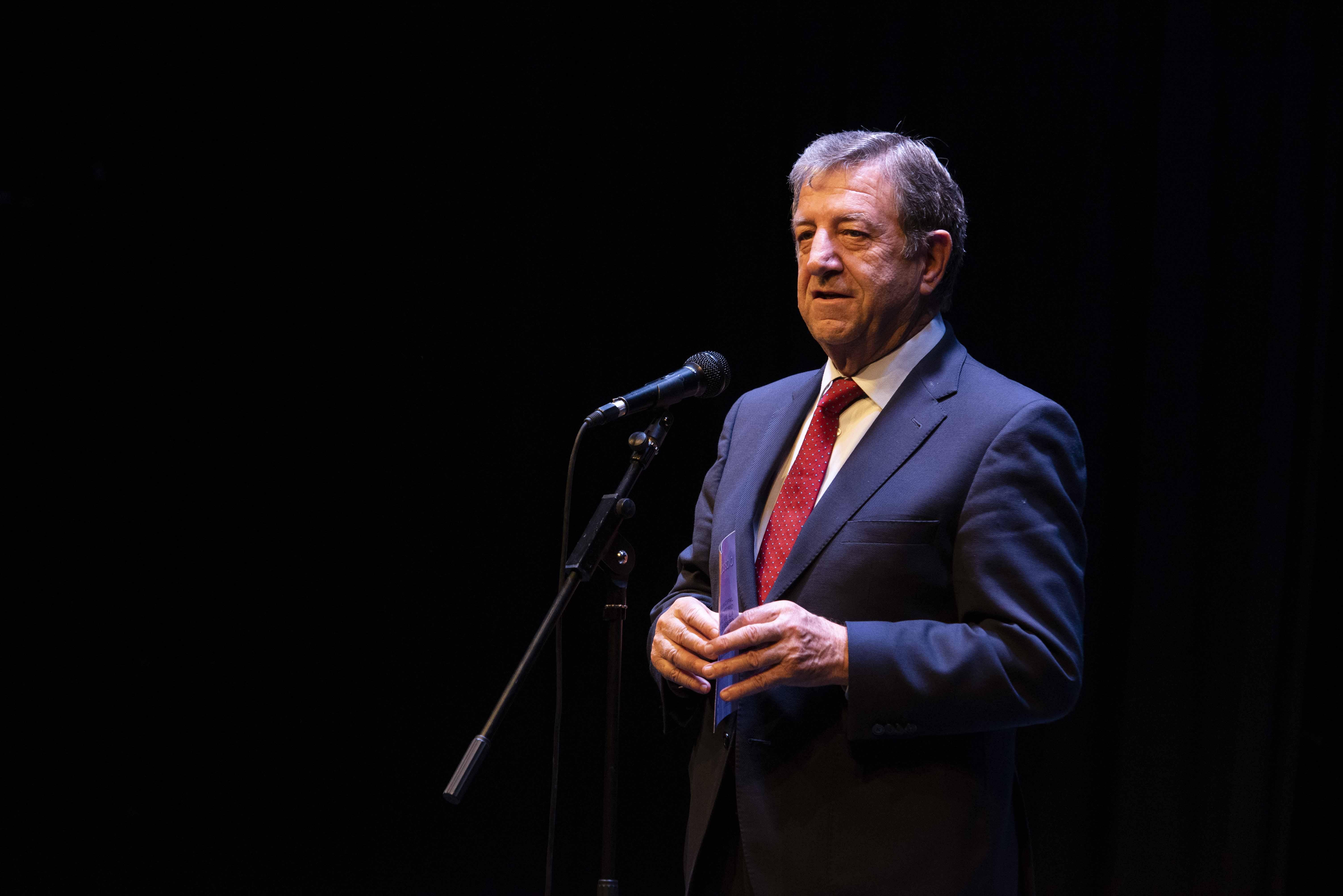 El alcalde, Luis Partida, durante su intervención.