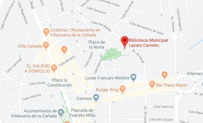 Mapa Biblioteca F. Lázaro Carreter