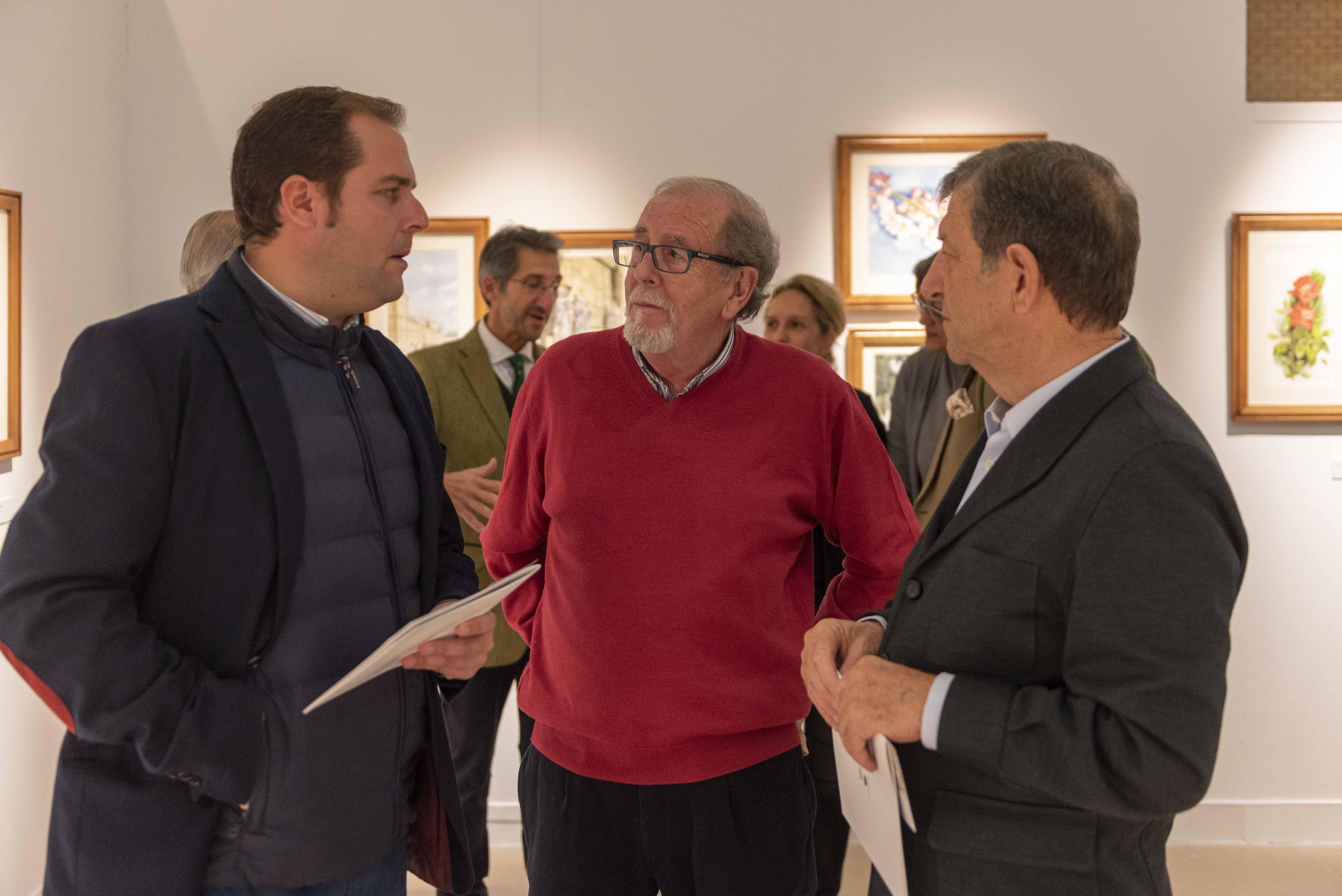 Vicente González Rodríguez junto a Luis Partida y Enrique Alcorta.