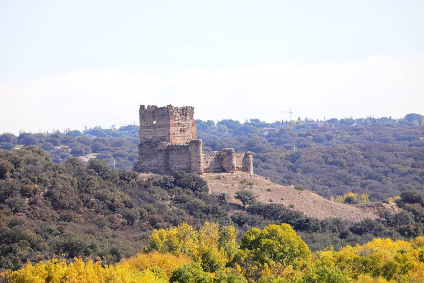 Imagen del Castillo de Aulencia, rodeado de la flora autóctona.
