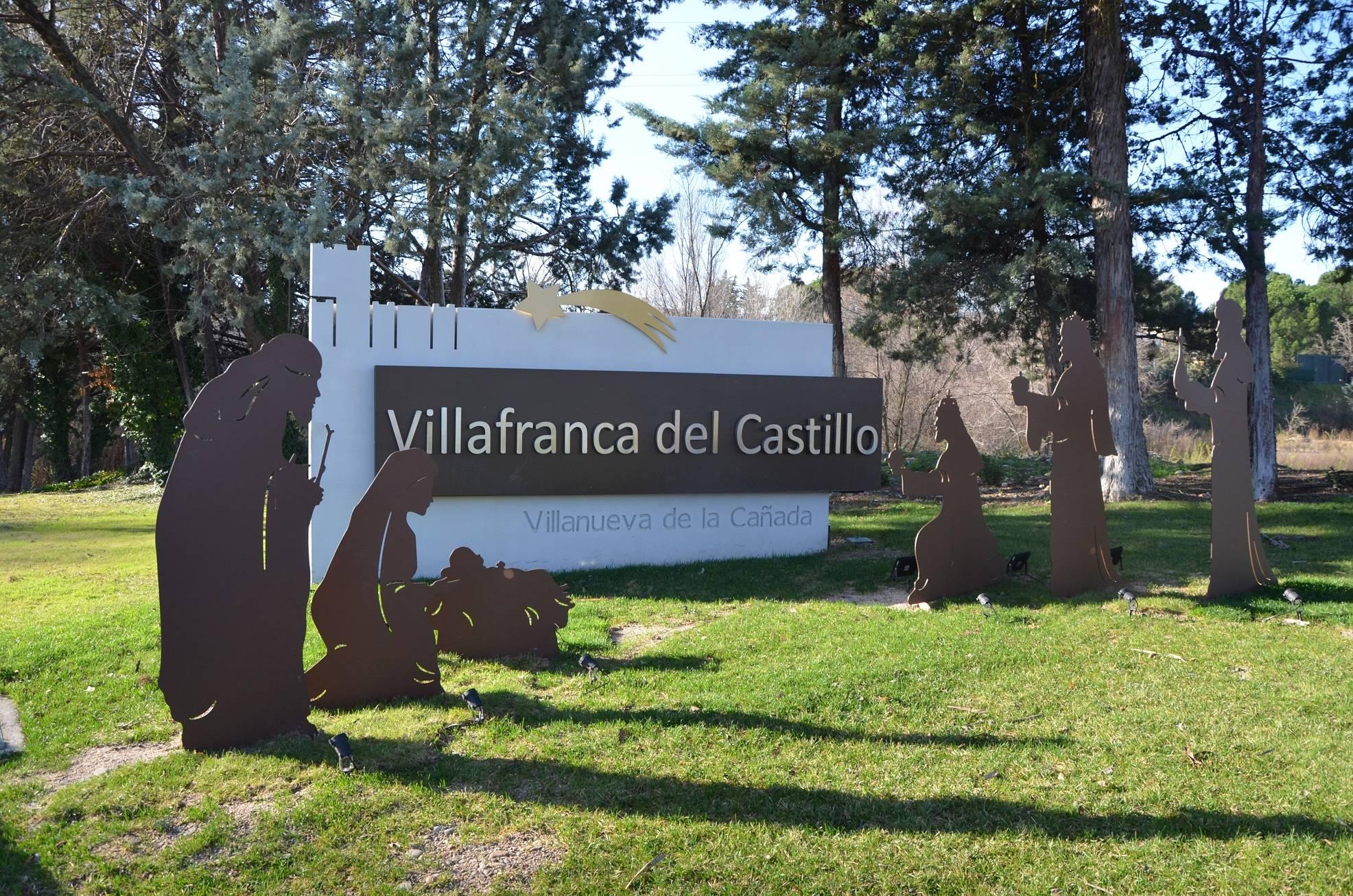Entrada a la urbanización de Villafranca del Castillo donde se ubica el belén.