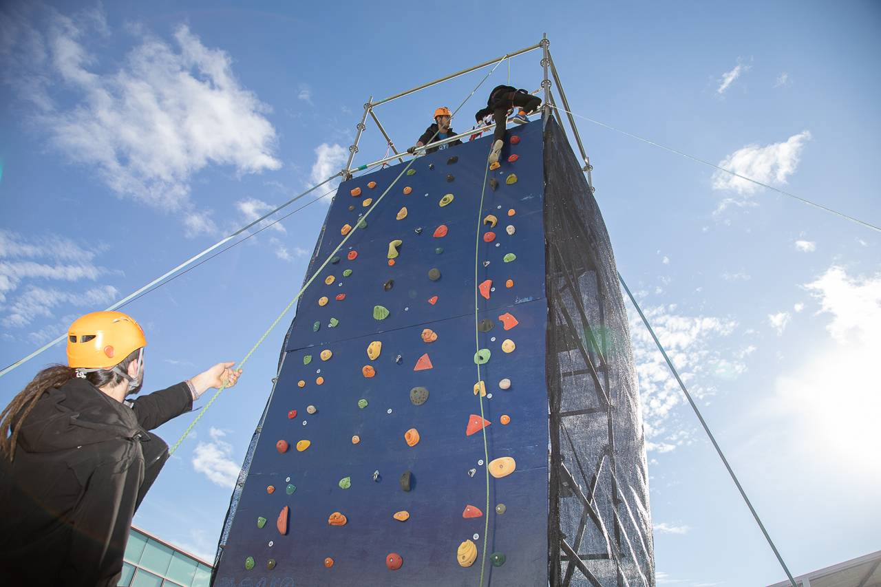 Entre las actividades infantiles ha destacado el rocódromo.