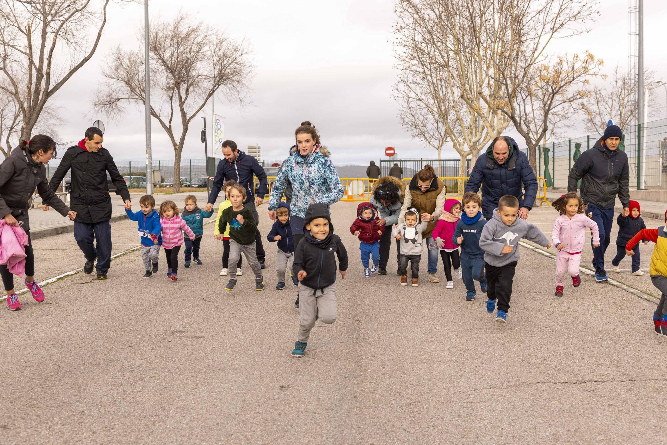 Imagen del inicio de una de las carreras solidarias.