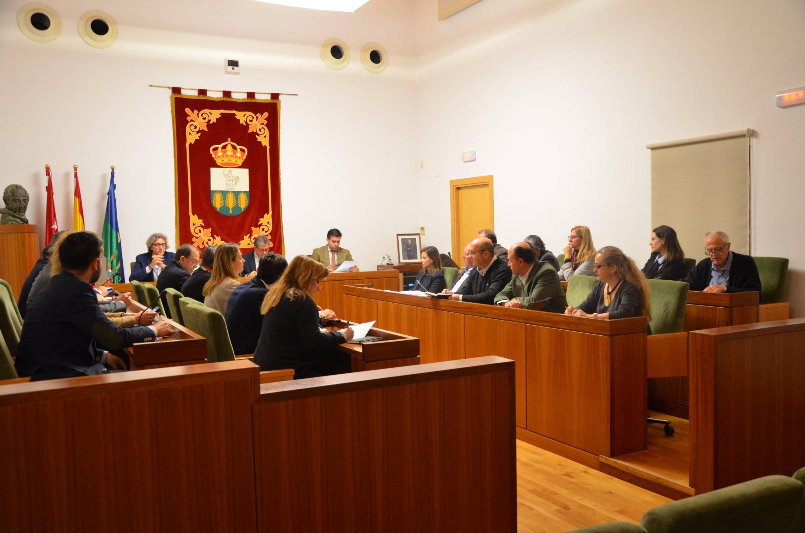 El salón de plenos durante la sesión.