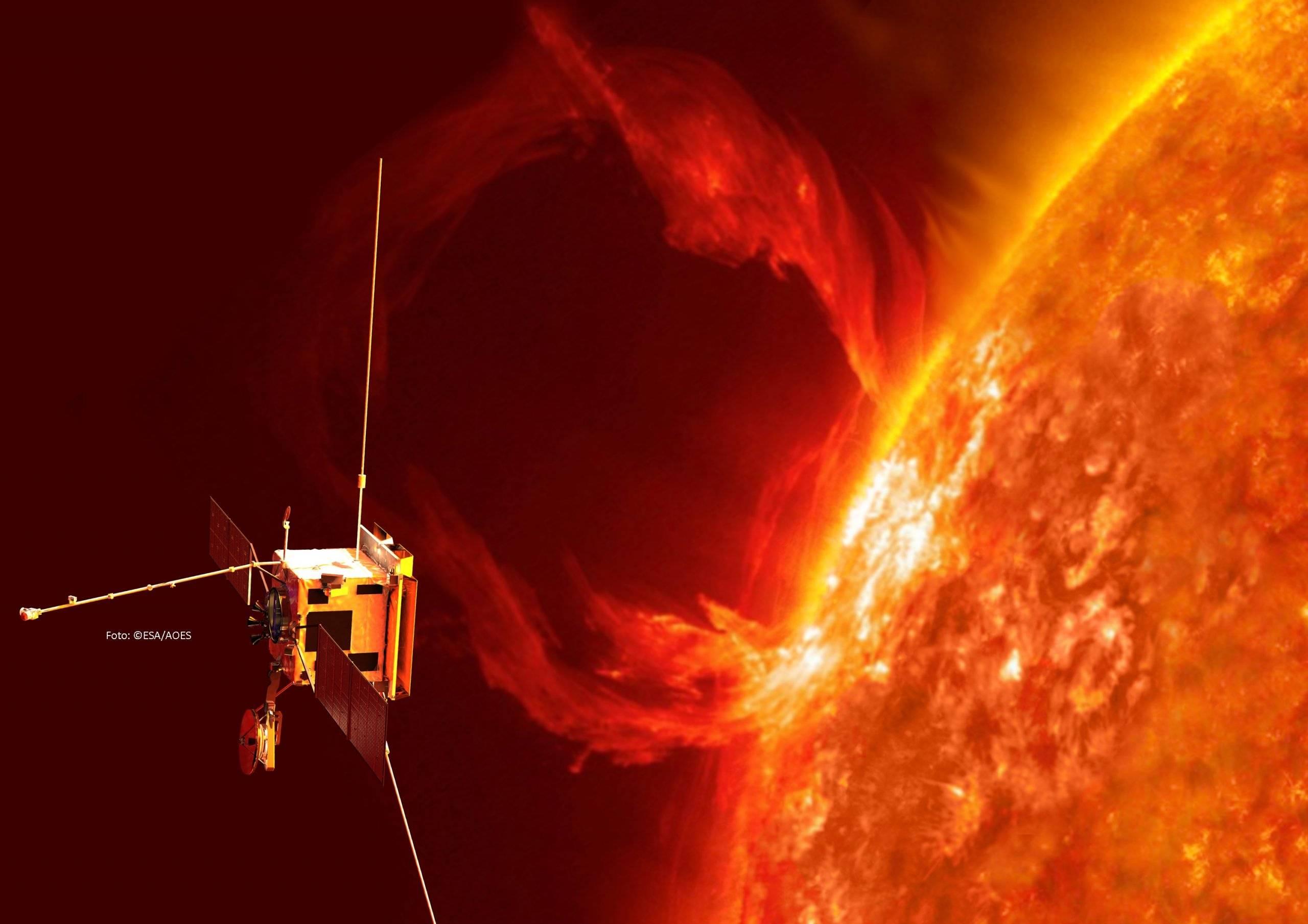 ©ESA/ATG medialab; Sun: NASA/SDO/ P. Testa (CfA)