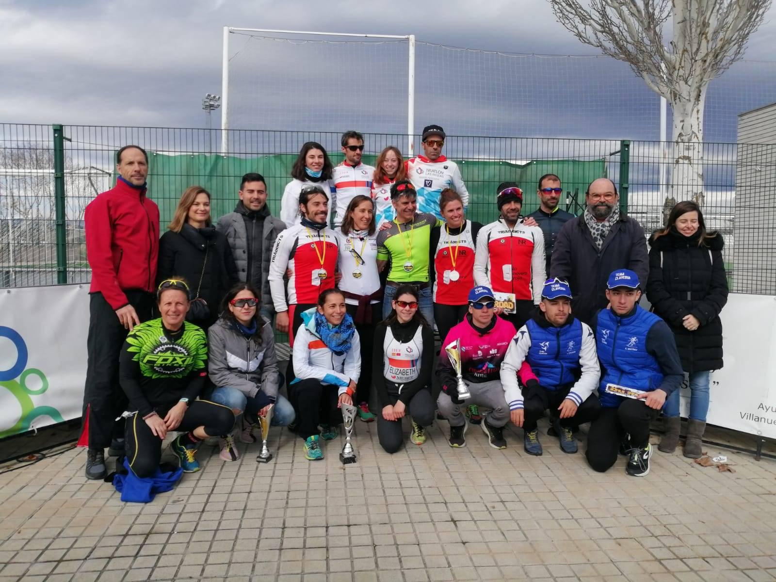 Foto de familia del evento deportivo.