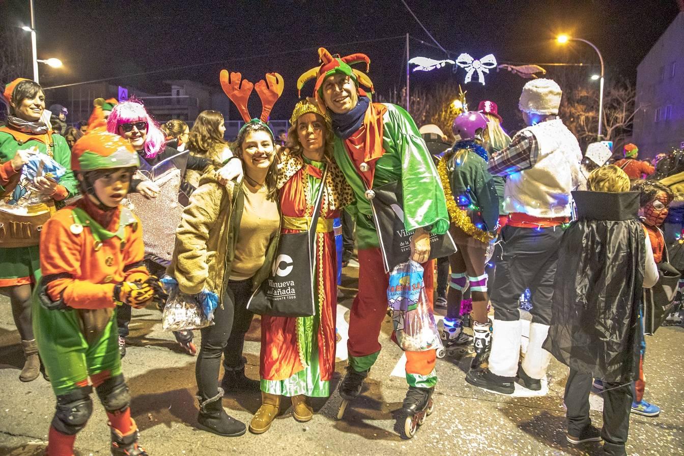 Participantes en la Cabalgata de Reyes.