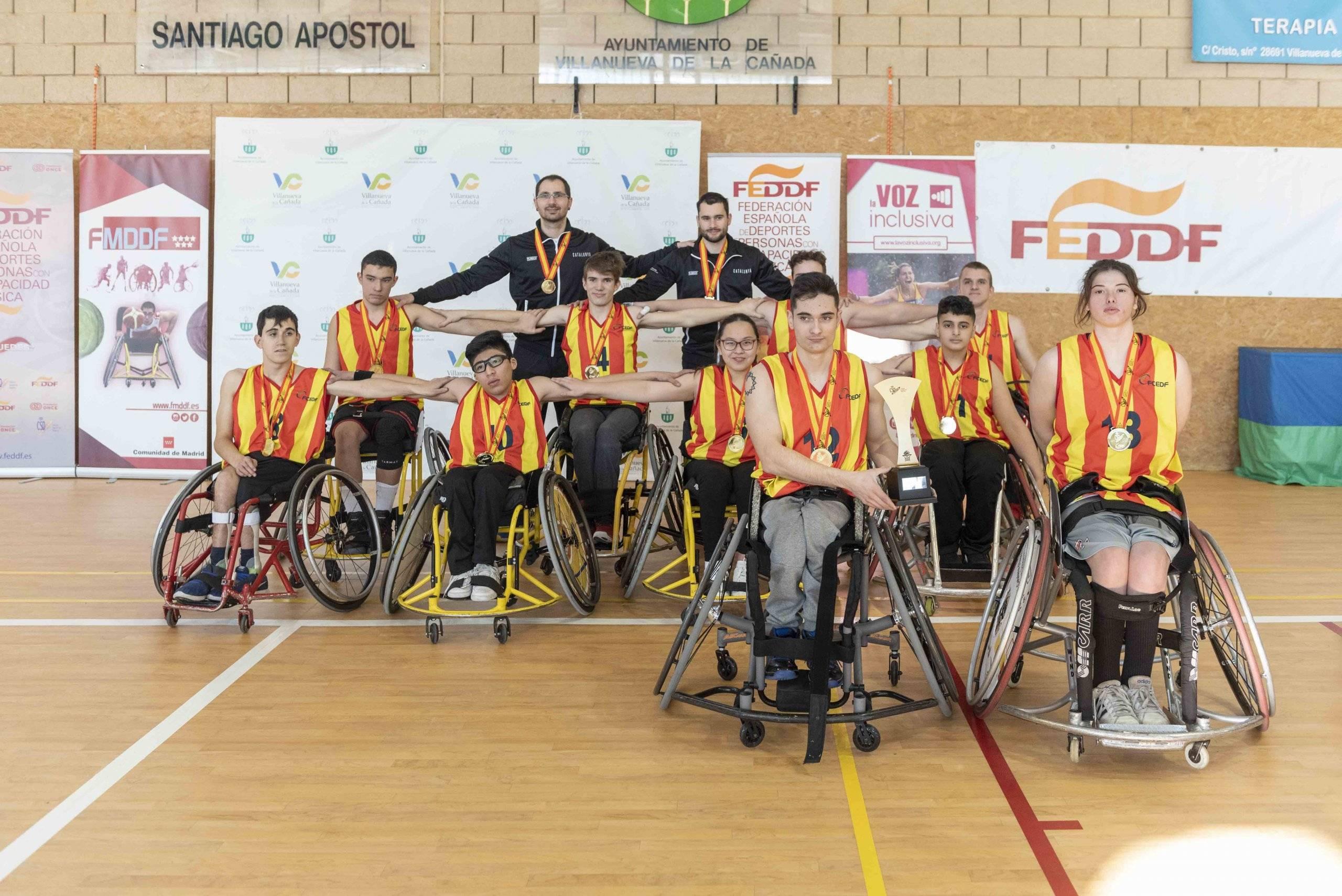 Equipo de la selección catalana, que obtuvo el primer puesto.