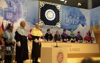 Imagen general del acto de nombramiento de los Doctores Honoris Causa.