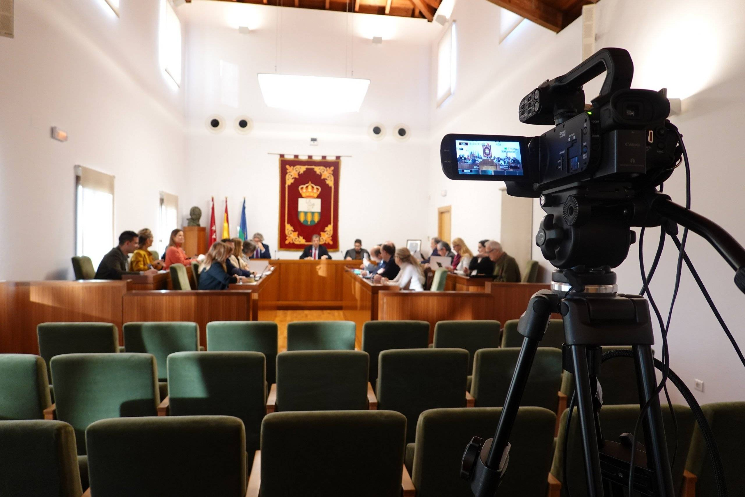 Imagen del Salón de Plenos durante la sesión.