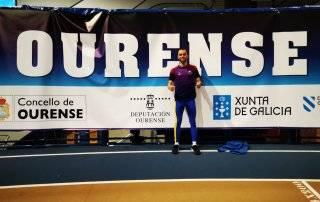 Fernando Vicente Navazo en el Campeonato de España de atletismo en pista cubierta.