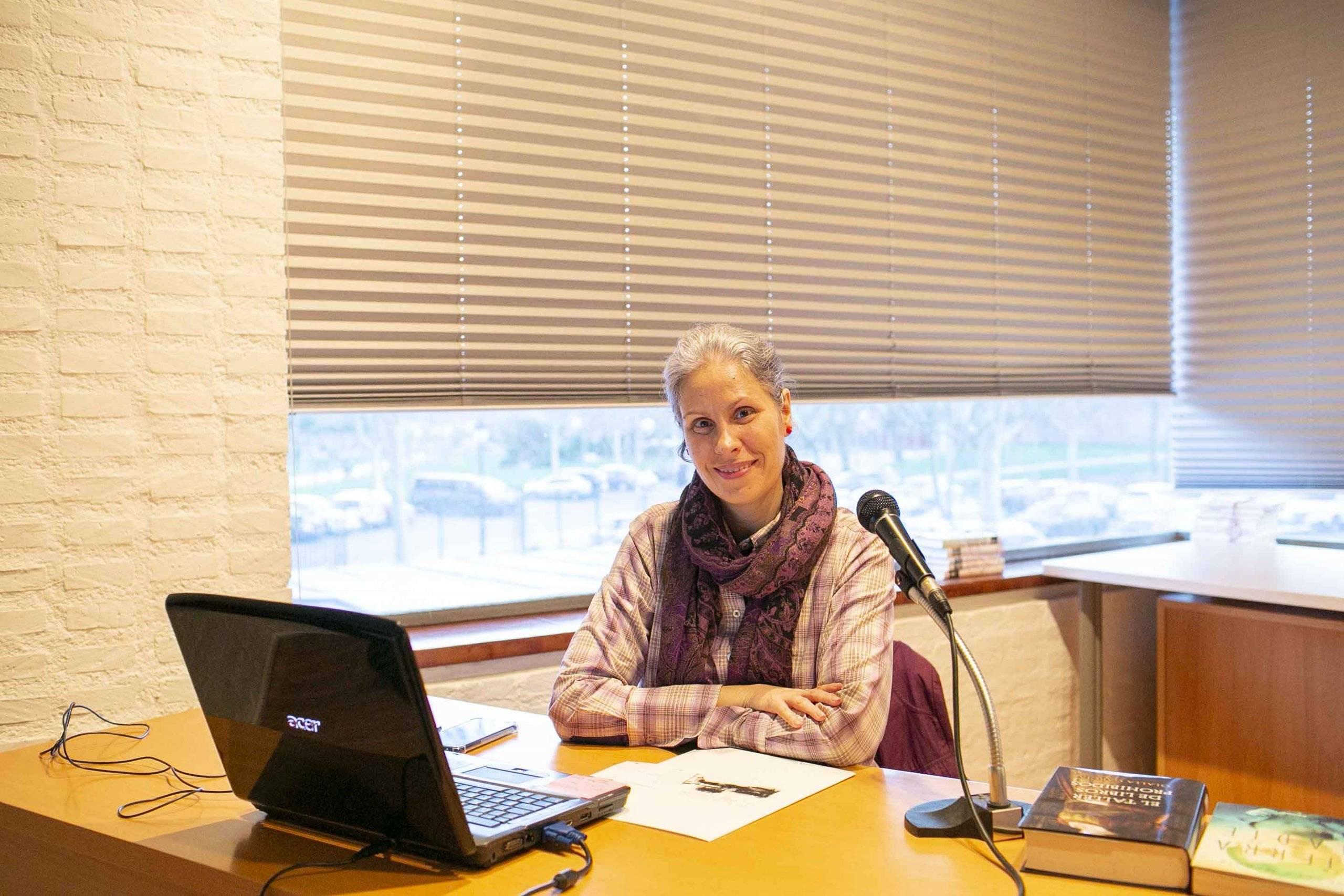 La escritora, historiadora y profesora de Literatura, Olalla García