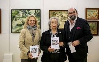 Amalia Cuadrupani junto al concejal de Cultura, Jesús Fernando Agudo Sánchez, y la concejal de Servicios Sociales, Patricia Fernández Atienza.