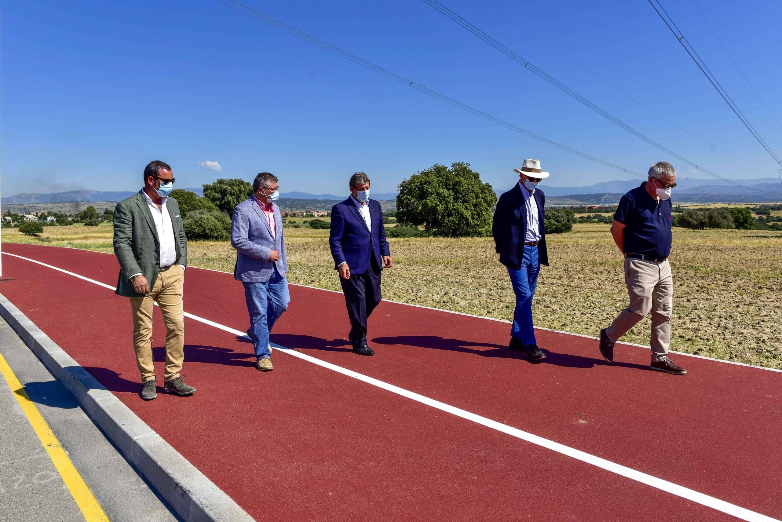 Momento de la visita de finalización de obras.