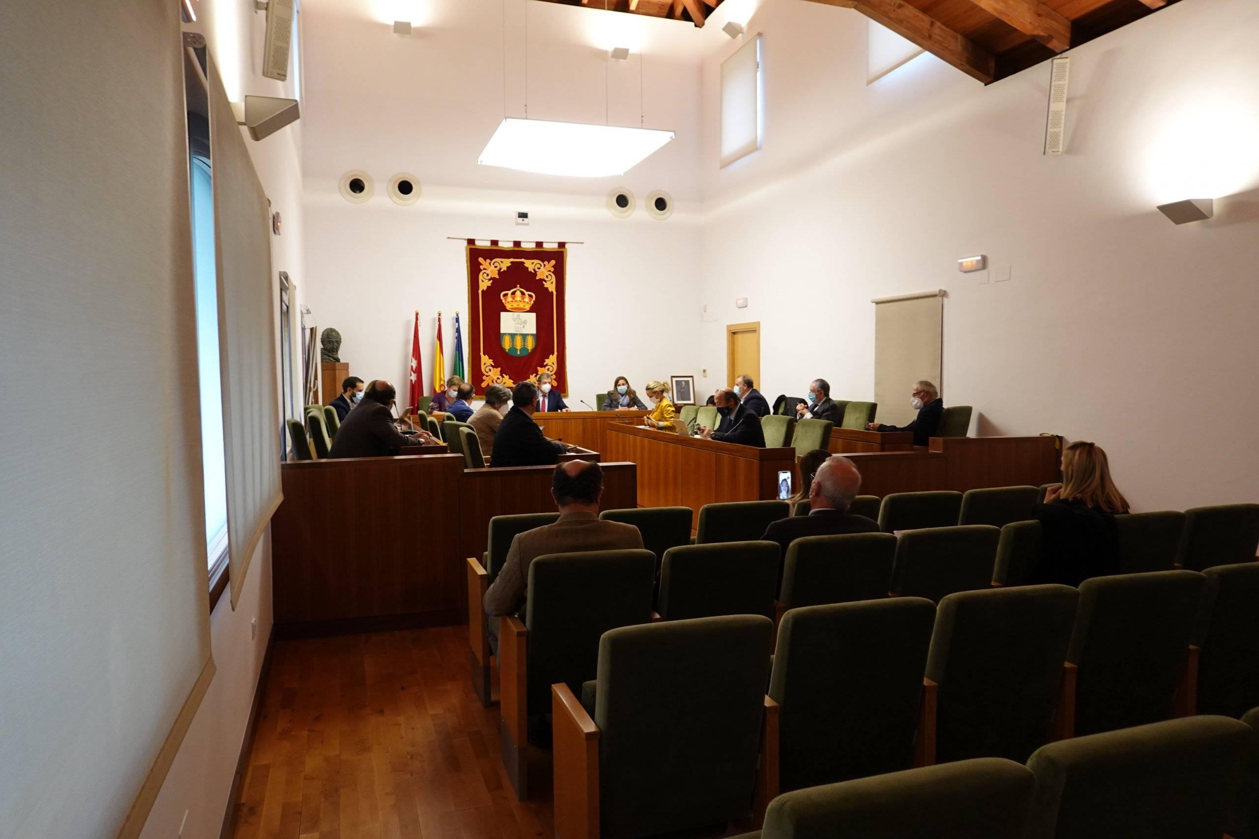 El Salón de Plenos del Ayuntamiento esta mañana.