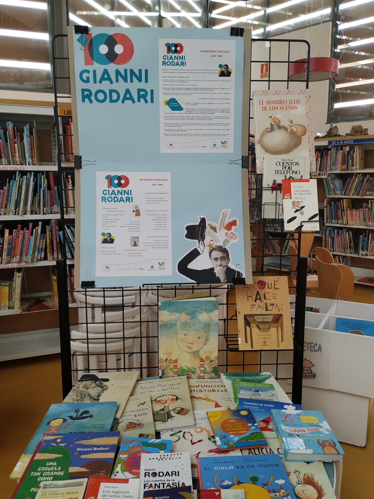 Exposición bibliográfica del escritor y pedagogo Gianni Rodari.