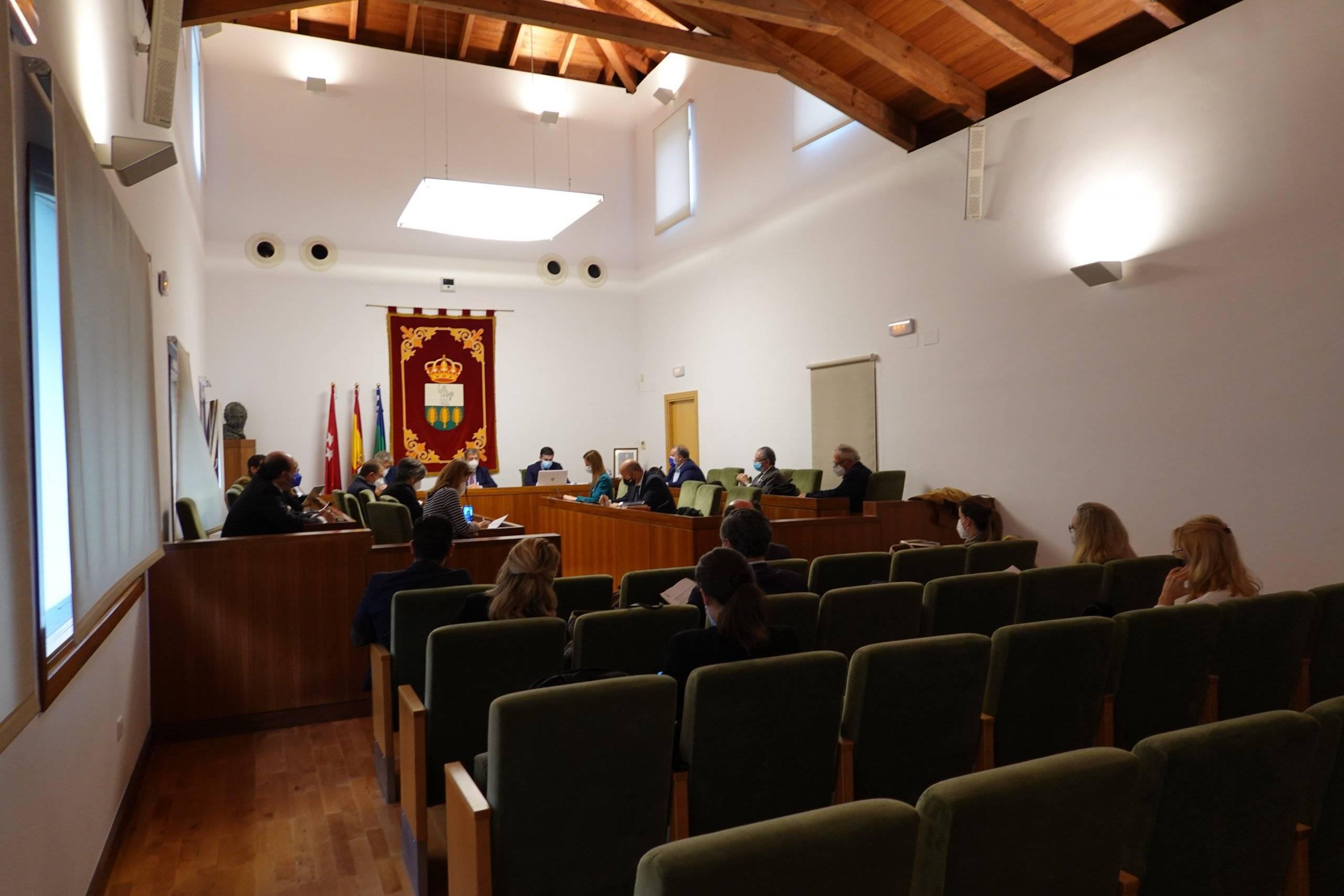 El Salón de Plenos durante la sesión ordinaria.
