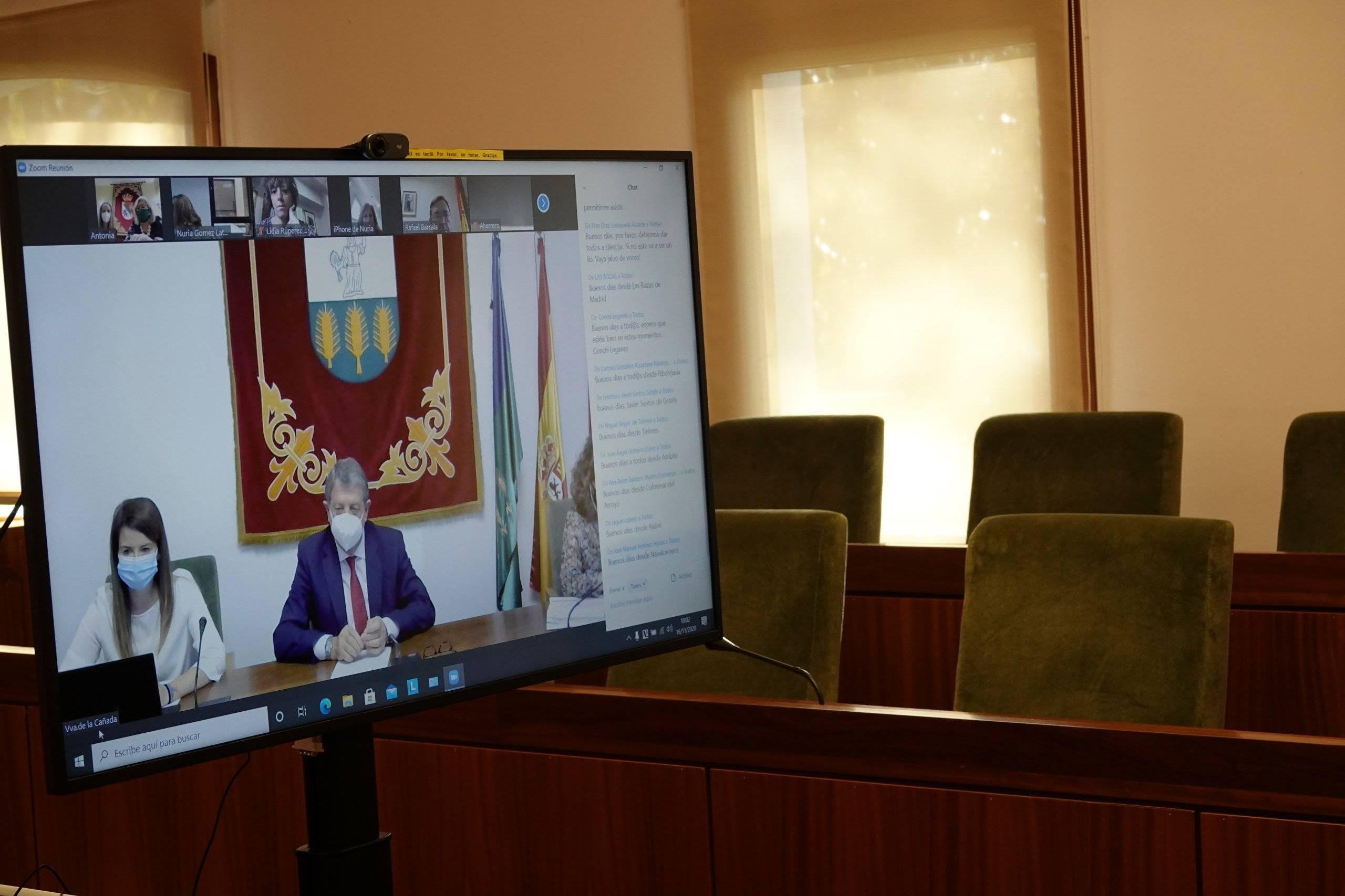 Imagen de la videoconferencia.