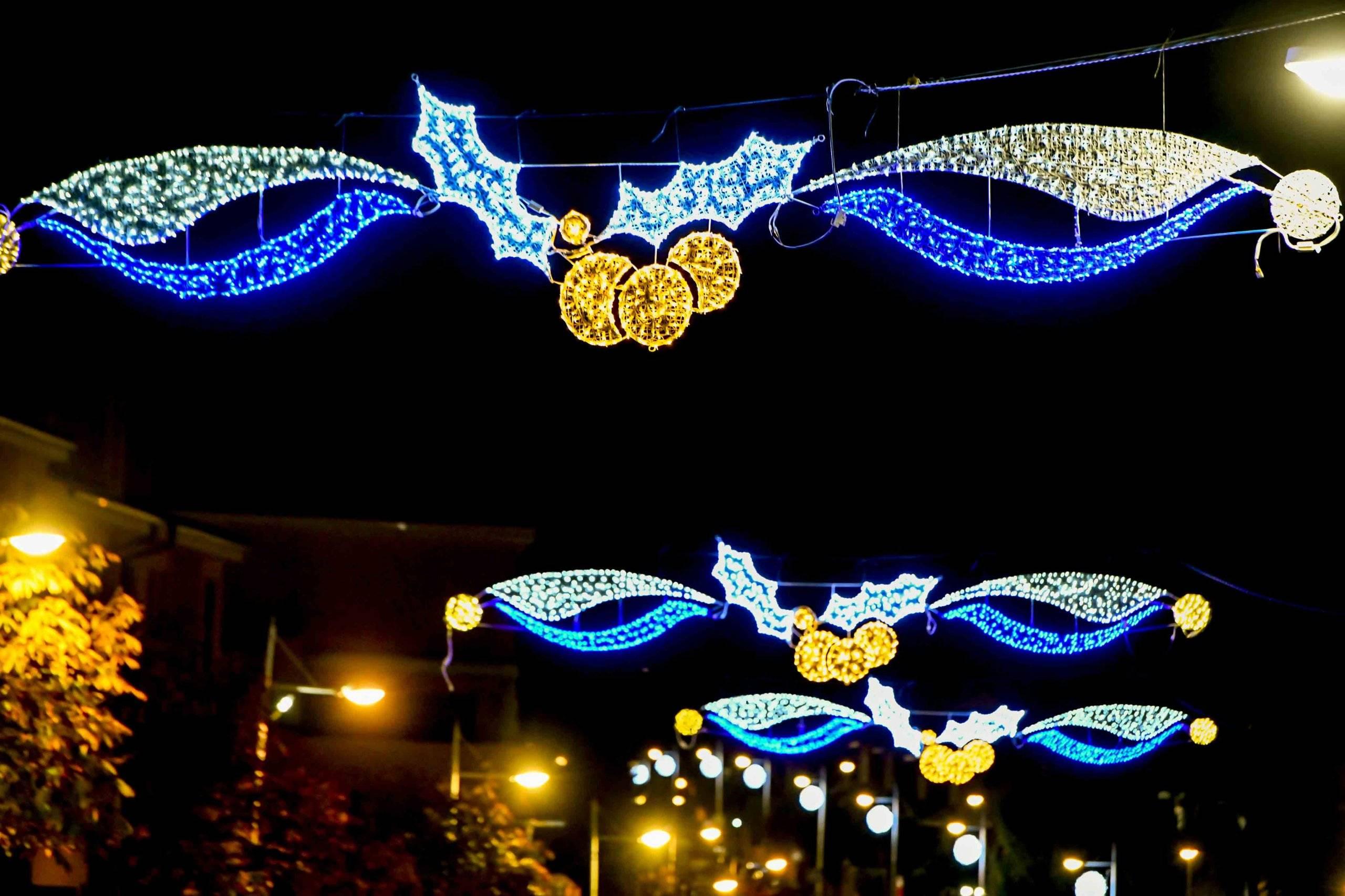 Imagen de la decoración navideña.