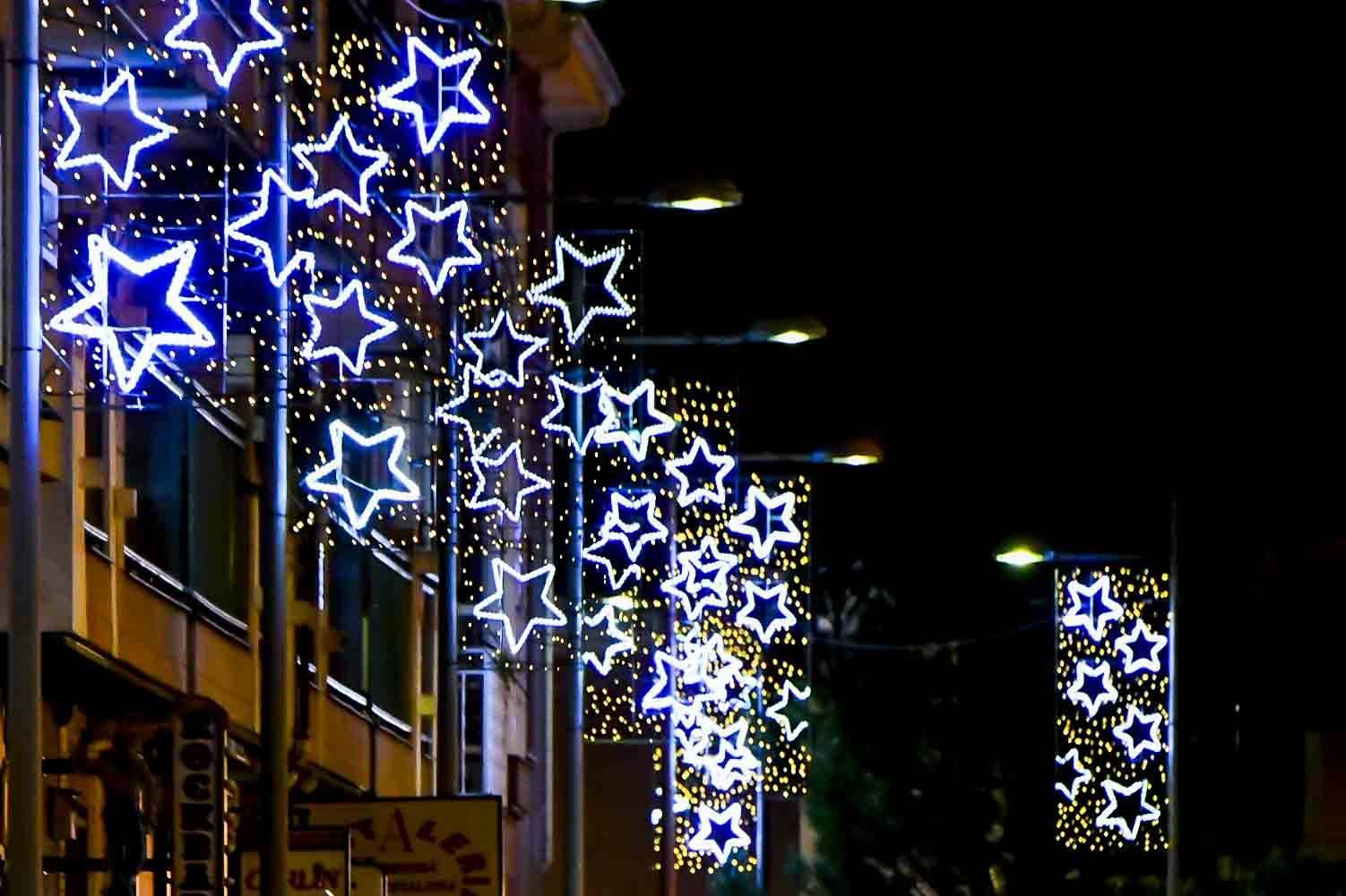 Imagen de la iluminación navideña.