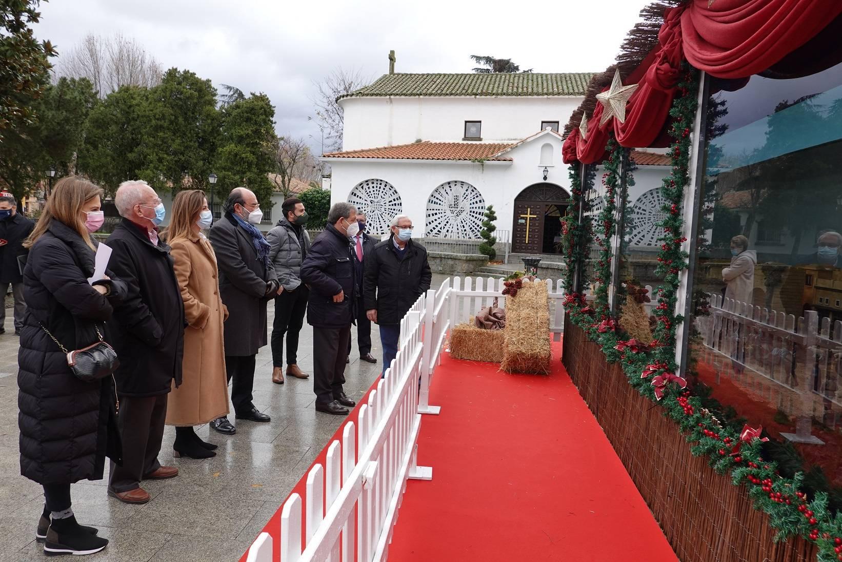 Imagen de la inauguración del belén municipal.