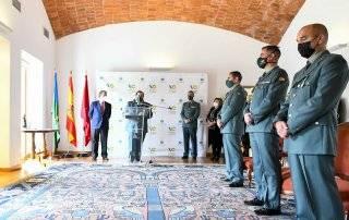 Acto de entrega de diplomas de la Guardia Civil.