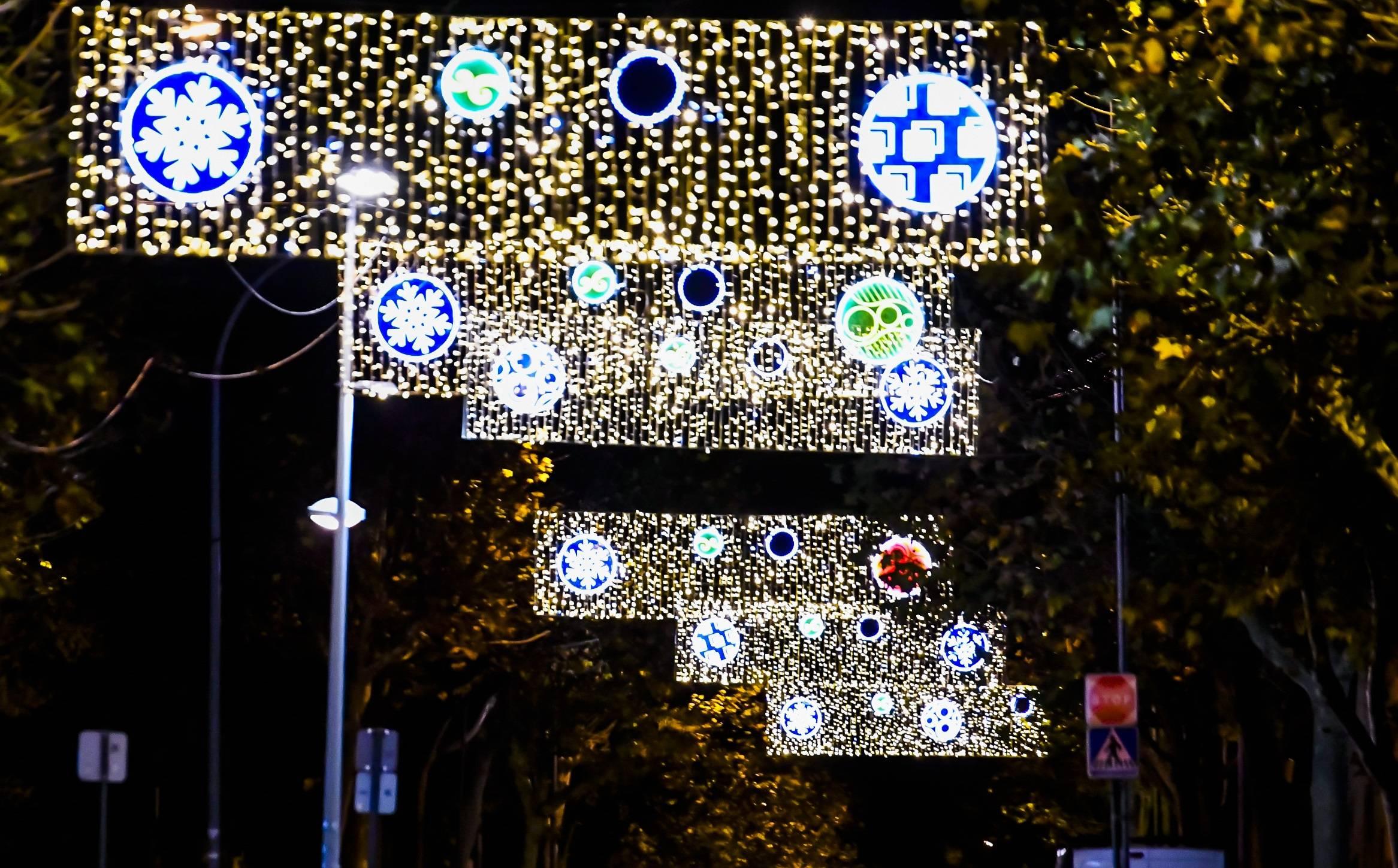 Una de las calles decoradas.
