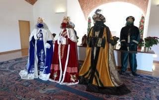 Imagen de los Reyes Magos en el Salón Abovedado del Ayuntamiento.