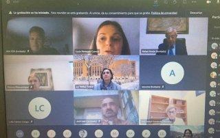 Participantes en la inauguración online del Curso de Experto Universitario en Gastronomía.