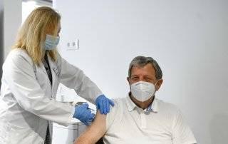Momento de la vacunación.