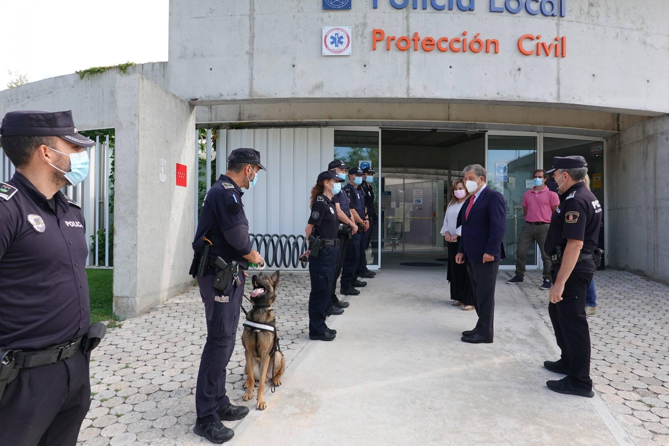 El alcalde, Luis Partida, en las dependencias de Policía Local.