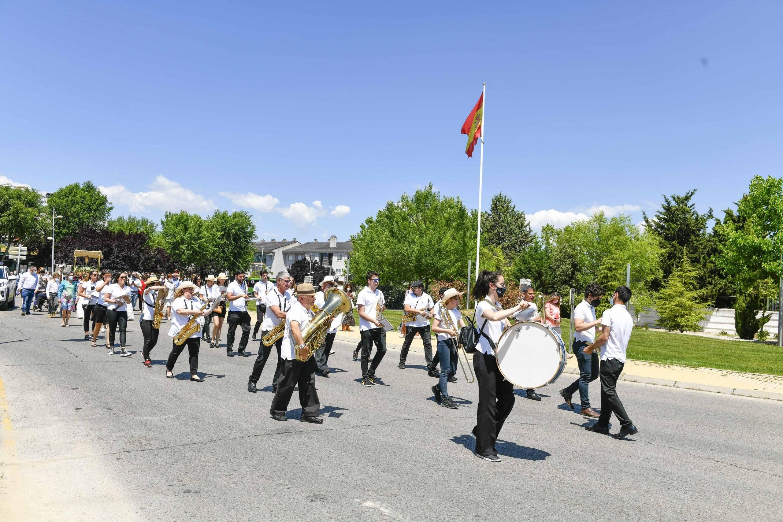 La Banda Municipal en la procesión del Corpus Christi.