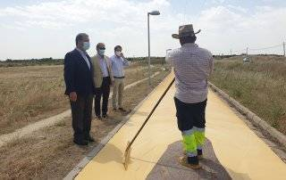 Imagen de la visita de obras que ha tenido lugar.