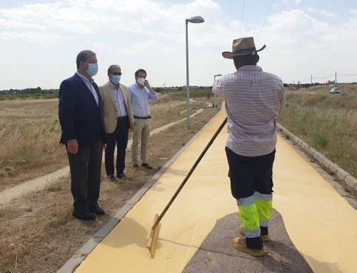 Visita a las obras de reparación de la senda ciclable