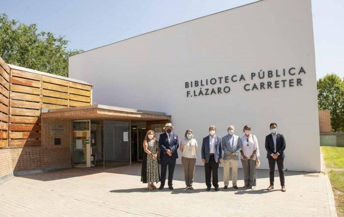El alcalde y la consejera Cultura, Turismo y Deporte de la Comunidad de Madrid, junto a miembros de la Corporación Municipal.