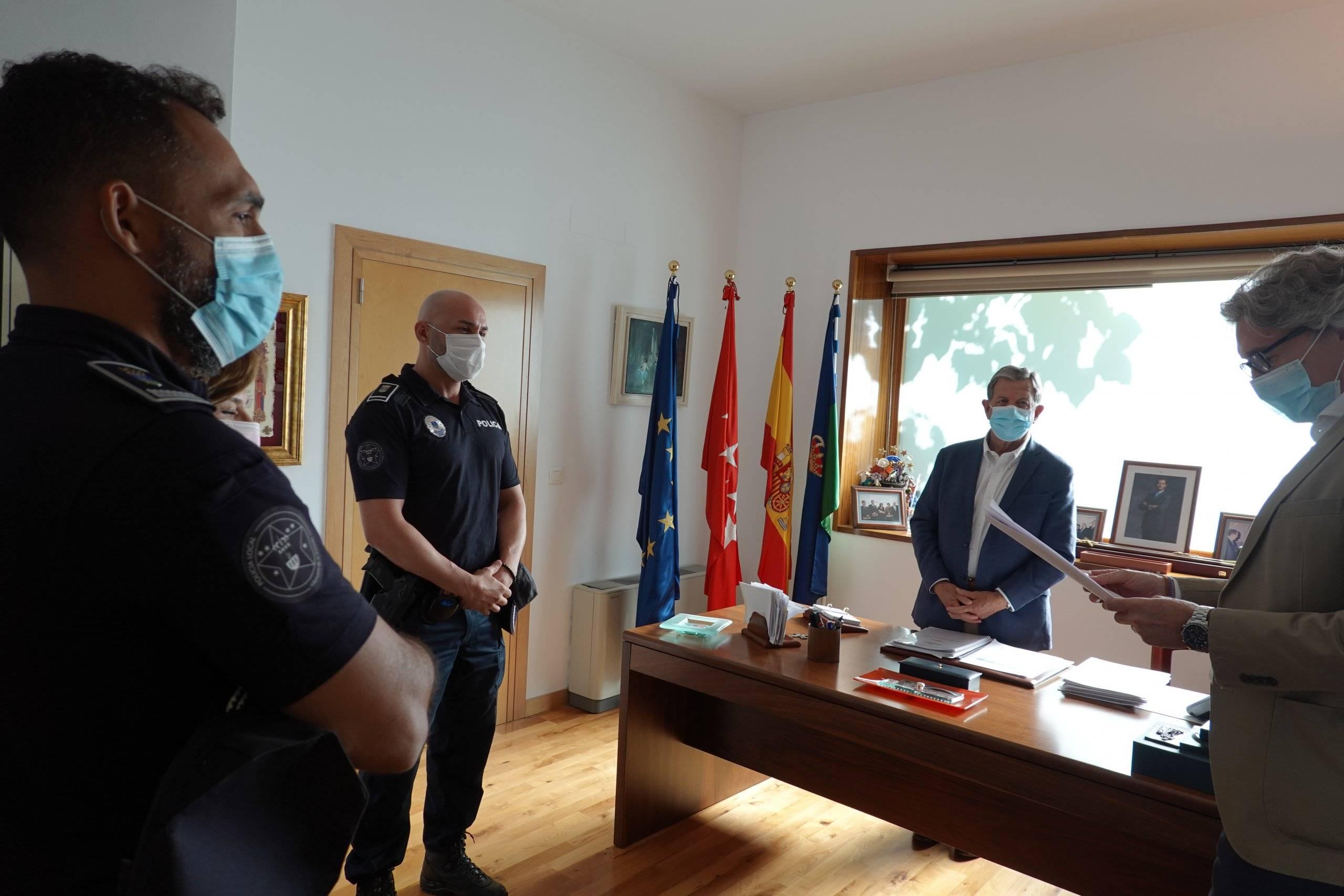 Imagen de la toma de posesión que ha tenido lugar en la Casa Consistorial.
