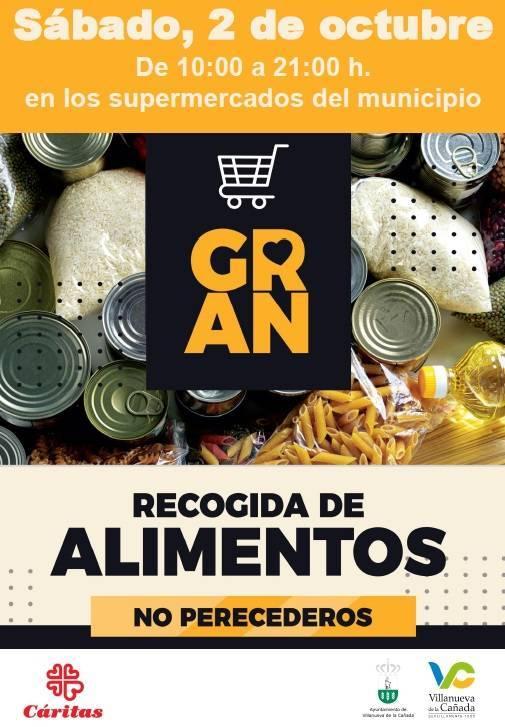 Cartel Gran Recogida de Alimentos