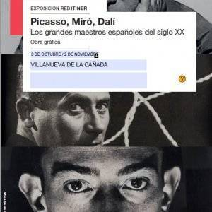 Cartel Picasso, Miró y Dalí