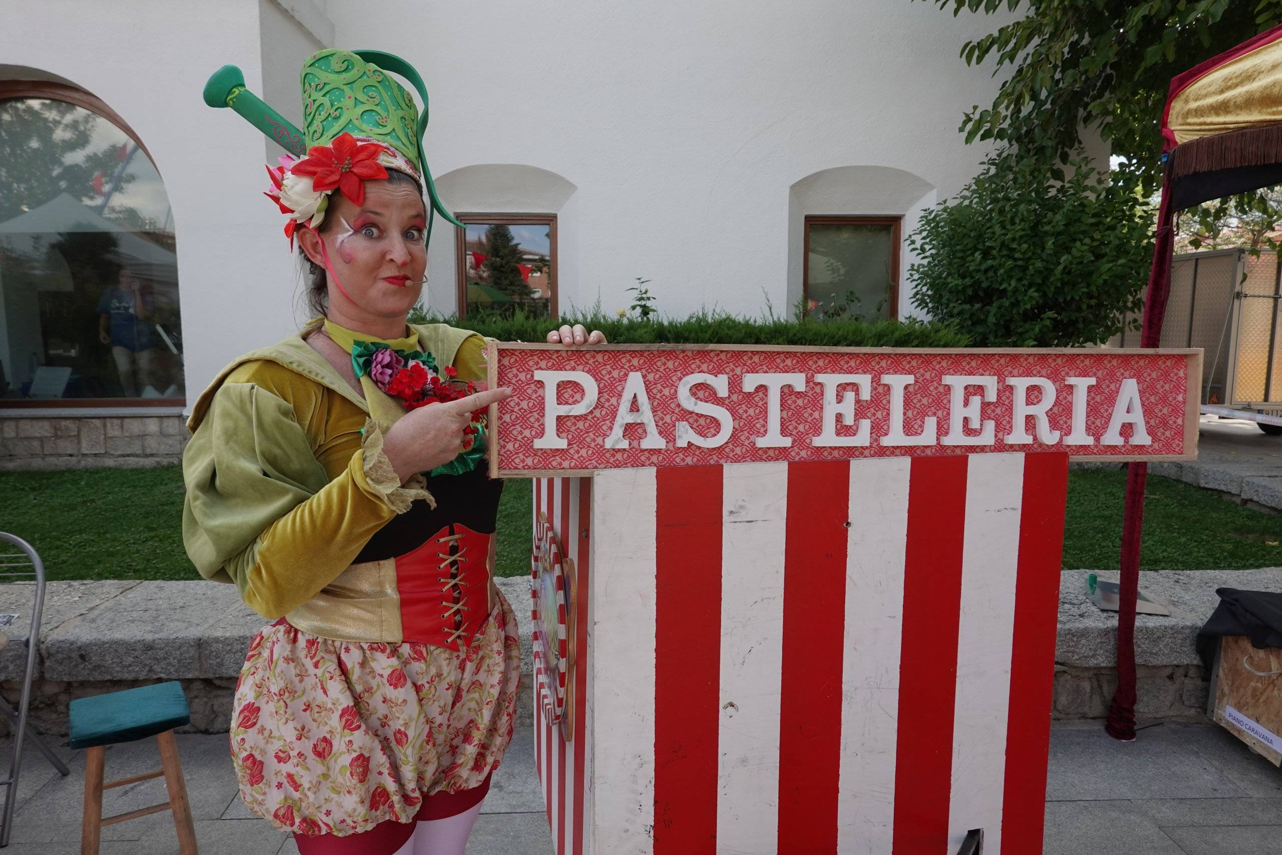 Animadora en la Feria de la Fantasía.