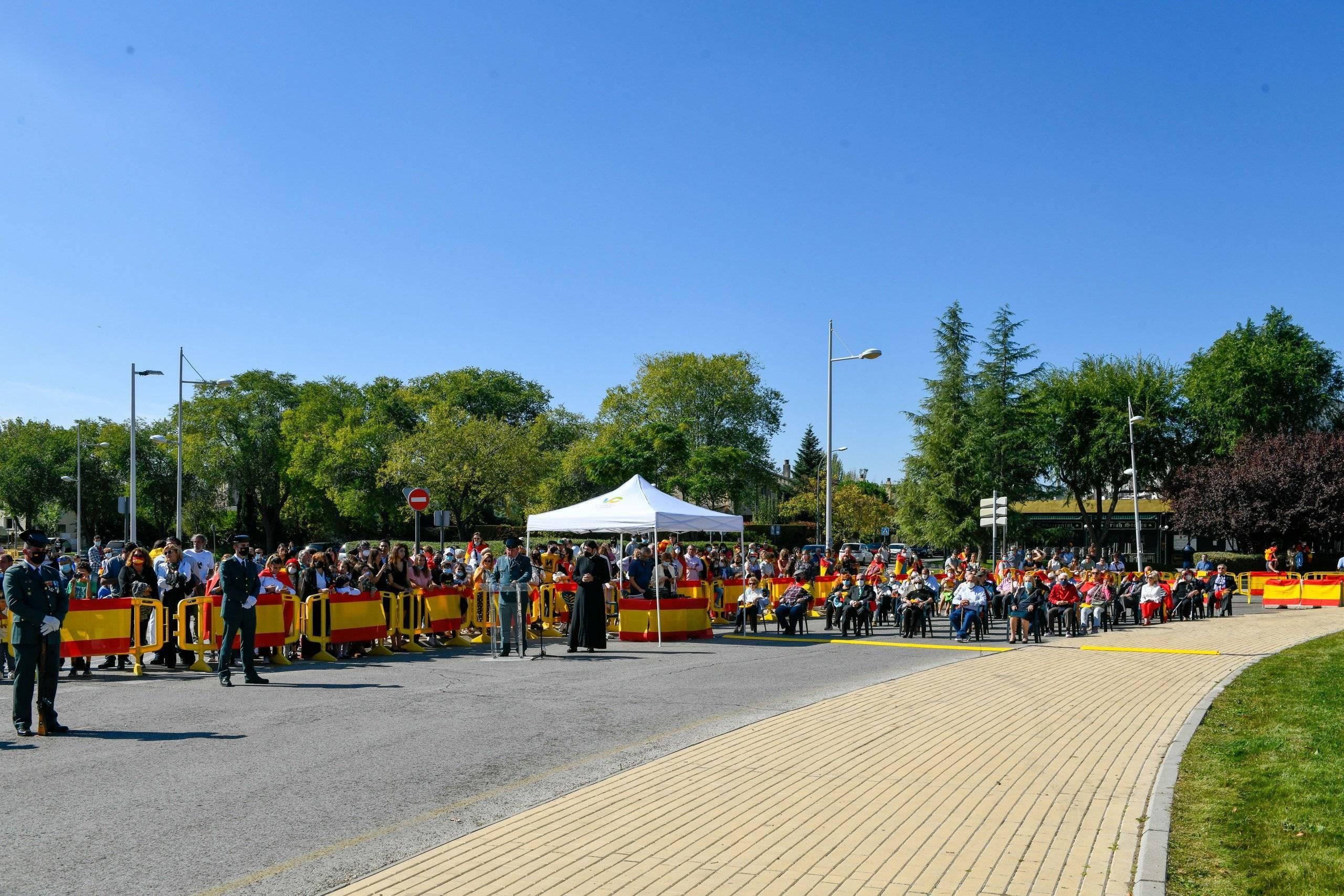 Imagen del acto del Día de la Hispanidad y Día del Pilar.