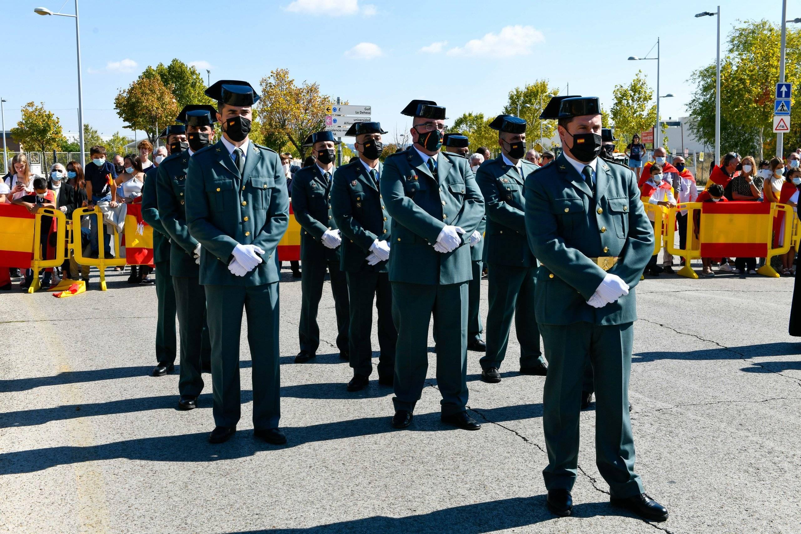 Guardias civiles presentes en el acto.