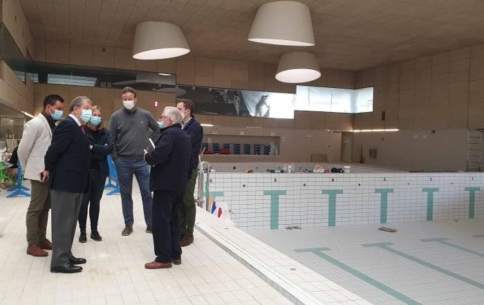 Imagen de la visita de obras.